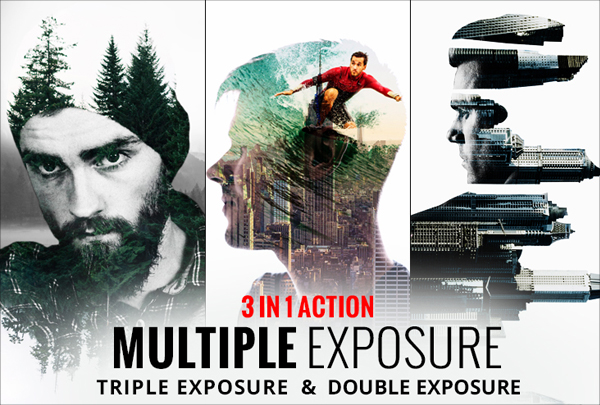Digital Multiple Exposure Photoshop Action