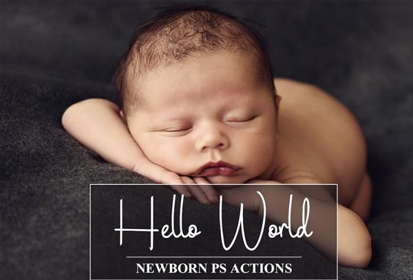 Digital Newborn PSD Actions