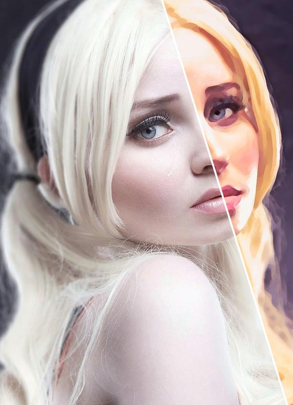 Digital Painting Effect Pro Photoshop Action