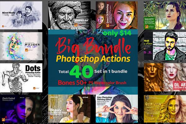 Digital Photoshop Actions Big Bundle