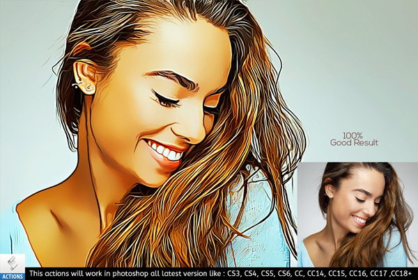 Digital Real Painting Photoshop Action