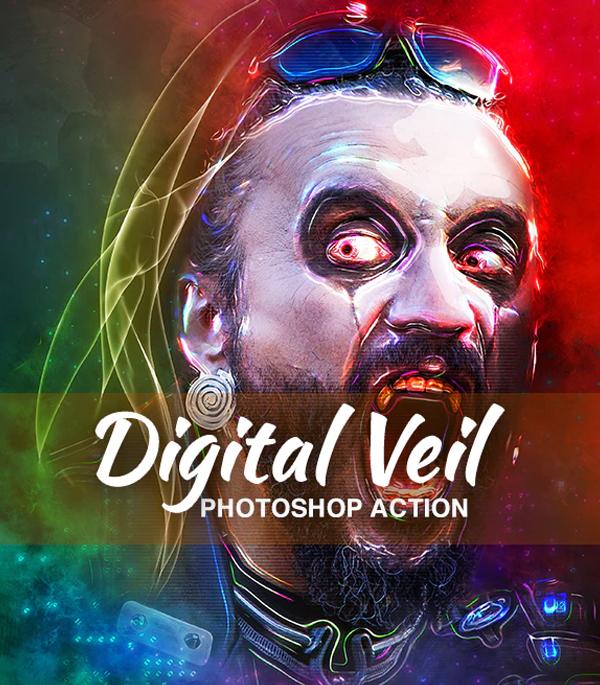 Digital Veil Photoshop Action
