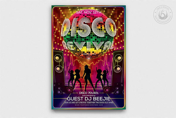 Disco Revival Flyer Printable Template