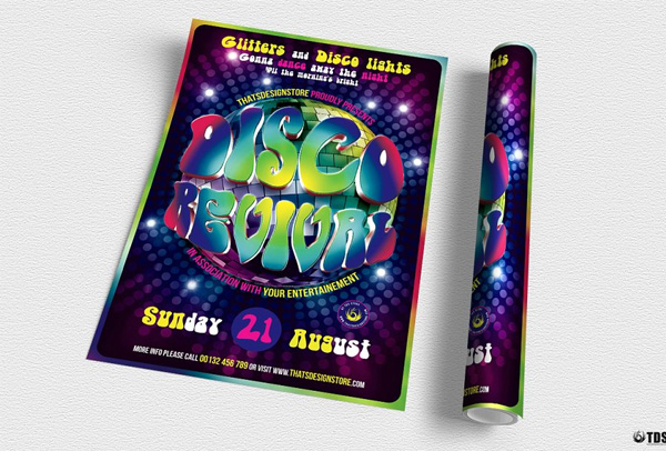 Disco Revival Flyer Template