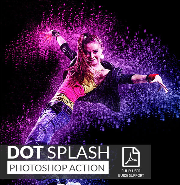 Dot Splash Photoshop Actions