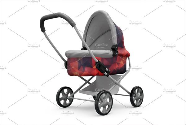 Editable Baby Stroller Mockup