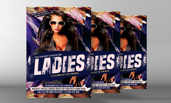 Editable Ladies Night Flyer Template