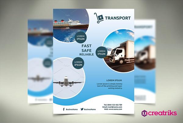 Editable Transport Flyer Template