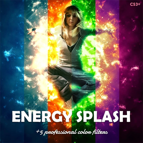 Energy Splash Photoshop Action