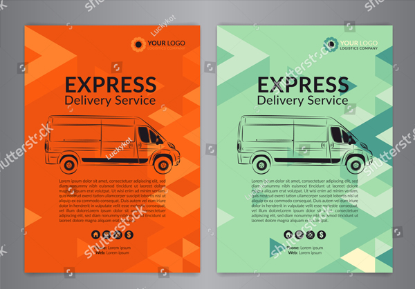 Express Delivery Service Flyer