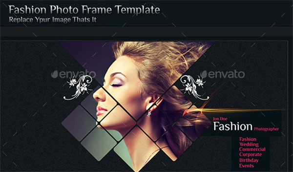 Fashion Photo Frame Template