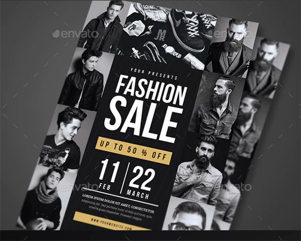 Fashion Sale Flyer PSD Template