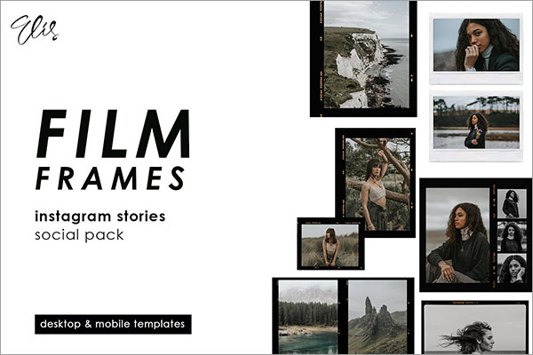 Film Frame Design PSD