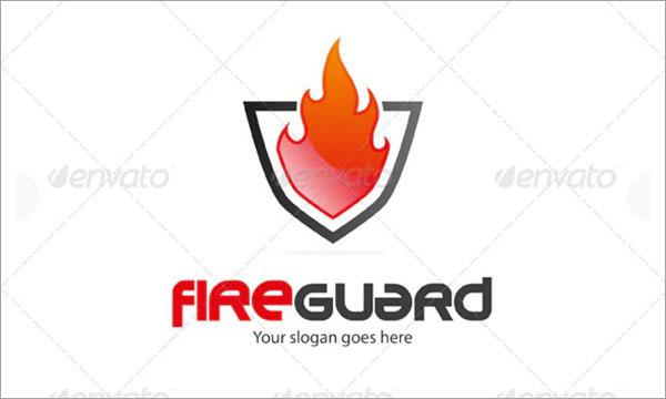 Fire Guard Logo Template Design