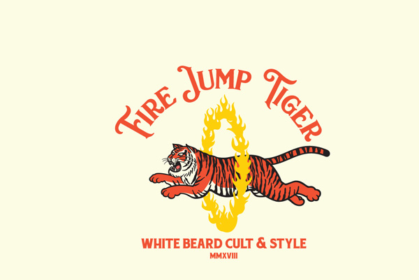 Fire Jump Tiger Logo Template