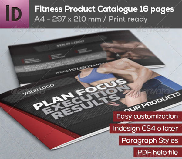 Fitness Product Catalogue Template