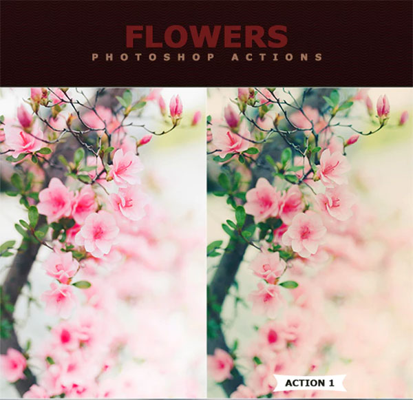 Flowers Photoshop Actions