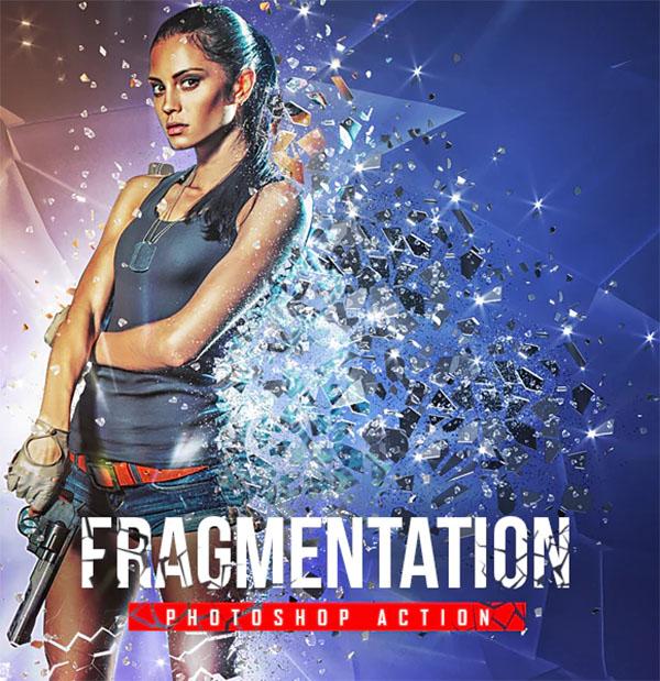 Fragmentation Shattered Glass Photoshop Action
