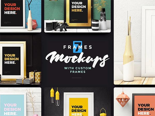 Frames Mockups Free PSD Mockups