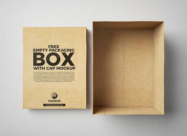 Free Box Mockups For Striking Packaging