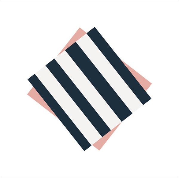 Free Cute Striped Napkin Template