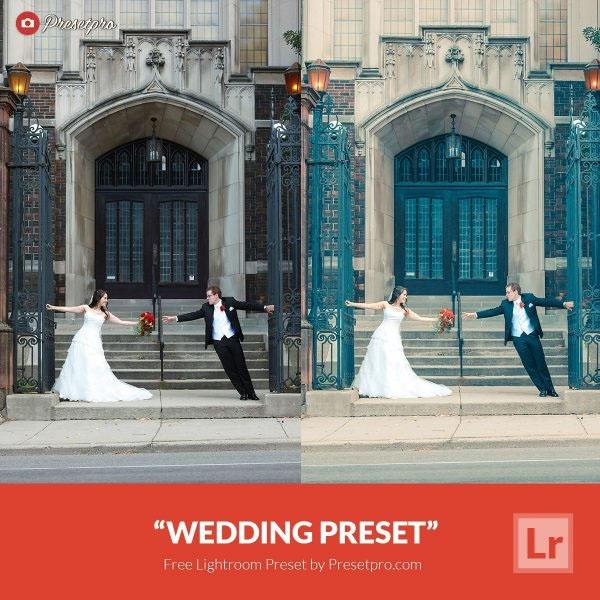 Free Lightroom Preset Wedding