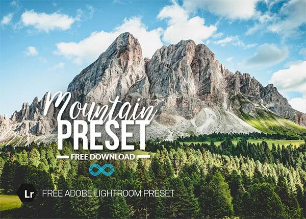 Free Mountain Landscape Lightroom Preset