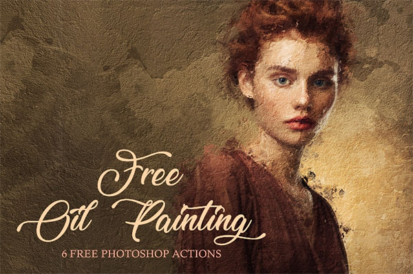 Free Oil Paint Photoshop Action