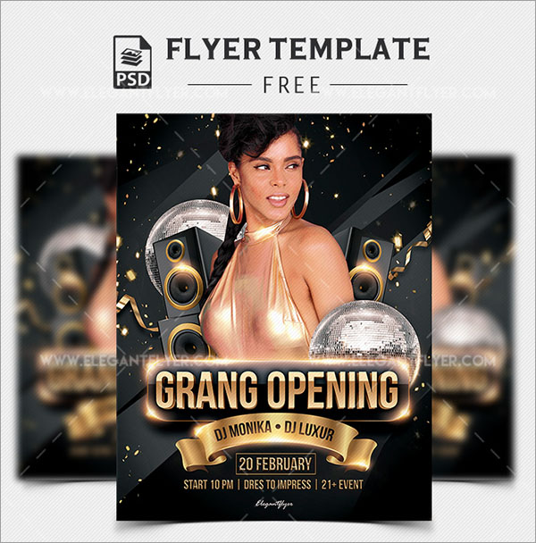 Free PSD Grand Opening Flyer Template