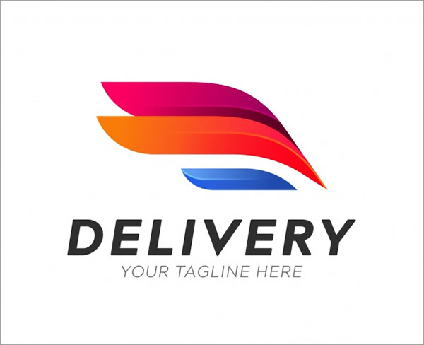 Free PSD Transport Delivery Logo Template