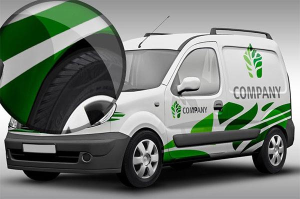 Free PSD Vehicle Branding Mockup