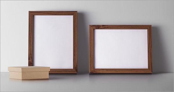 Free PSD Wood Frame Mockup