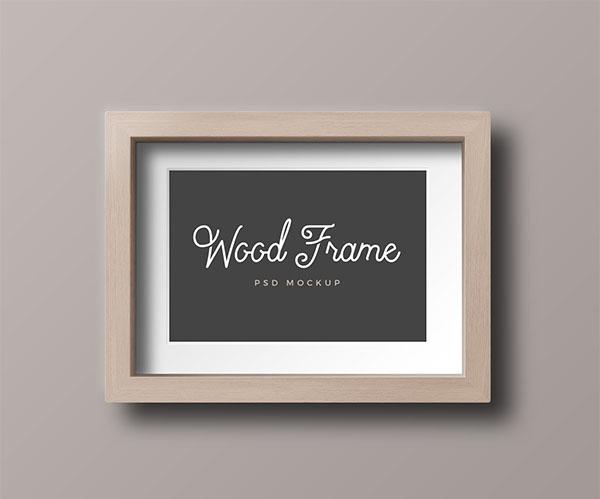 Wood Free Photo Frame Mockups