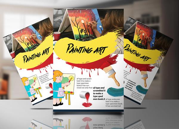 Free Paint Art Flyer Design Template