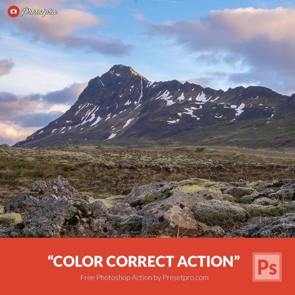 Free Photoshop Action Color Correct