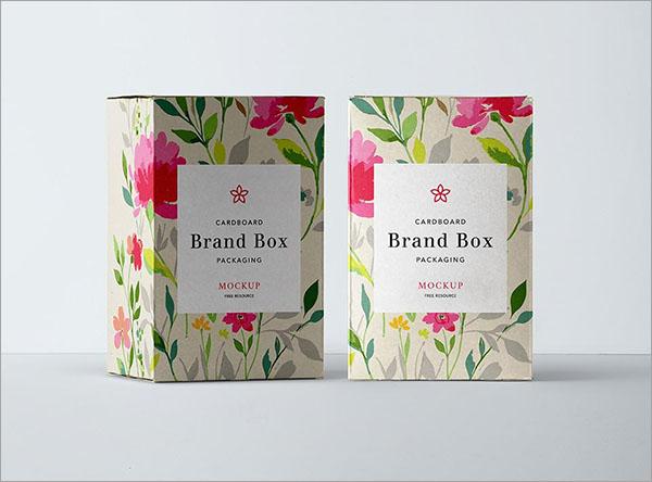 Free PSD Cardboard Packaging Mockup