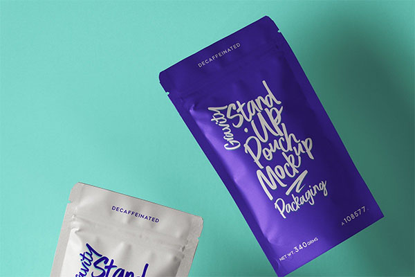 Free Stand-Up Psd Pouch Packaging Mockup