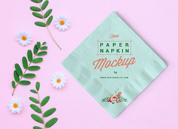 Free Table Paper Napkin Mockup PSD