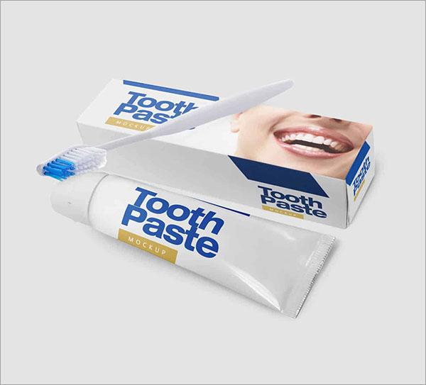 Free Tooth Paste Mockup