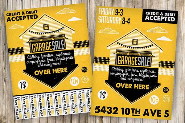 Garage JPG, EPS, PSD Sale Flyer & Poster