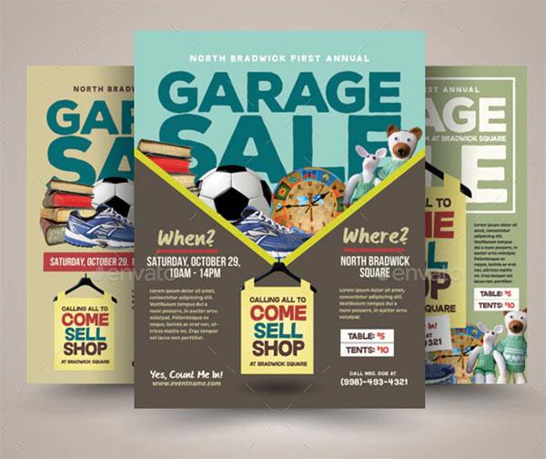 Garage PSD Sale Flyer Templates