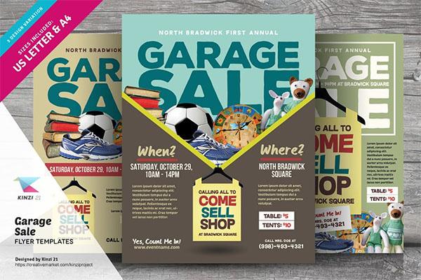 Garage Print Sale Flyer Templates