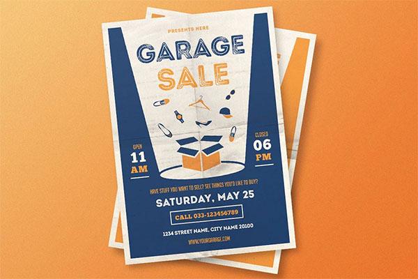 Garage Sale AI, PSD Flyer