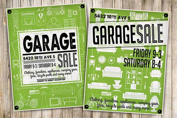Garage Sale EPS, PSD, JPG Flyer, Poster