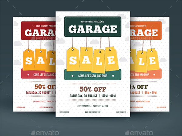 Garage Sale Flyer PSD Design