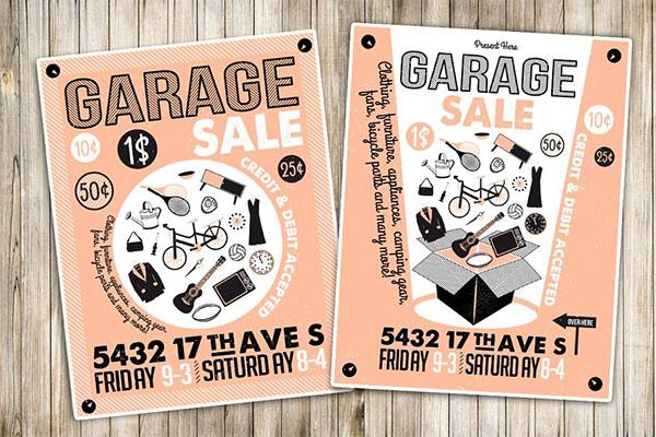 Garage Sale Flyer & Poster Template