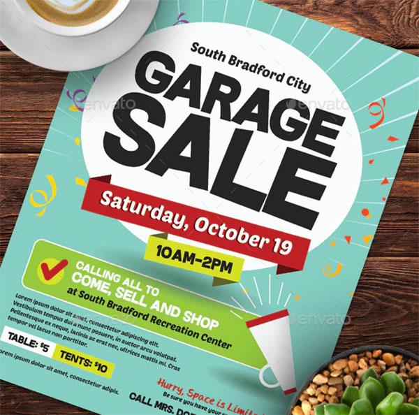 Garage Sale Flyer Templates