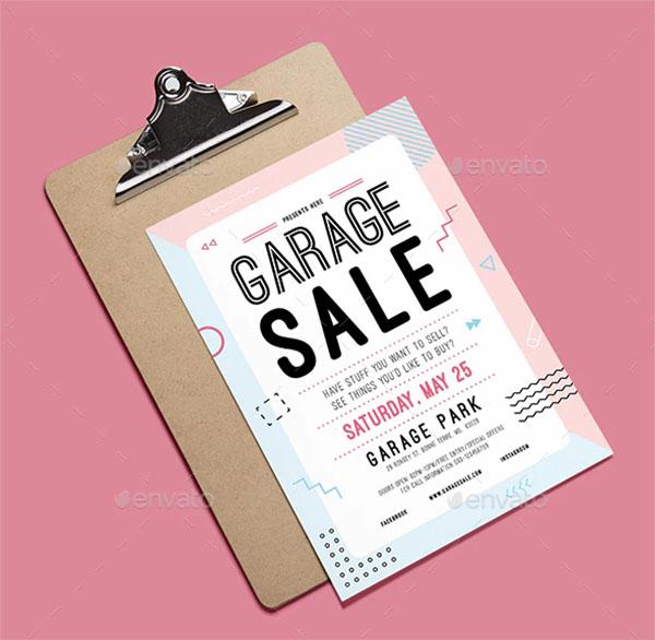 Garage Sale Illustrator Flyer