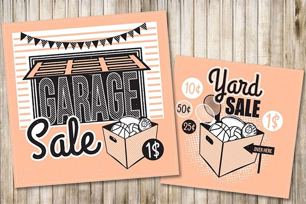 Garage Sale JPG, EPS Flyer and Poster