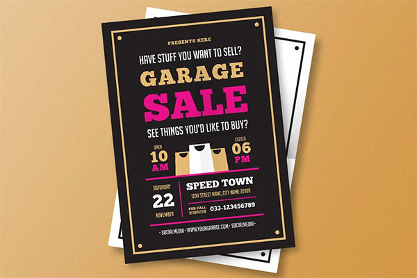 Garage Sale PSD Flyer Template